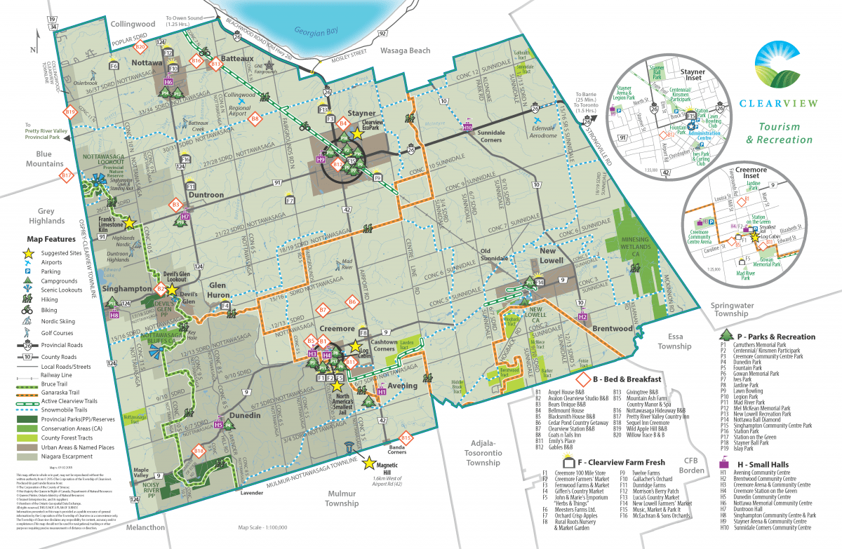 Clearview Township Tourism & Recreation Map
